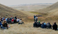 Classe en plein air au parc national des Prairies