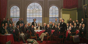 Peinture - Fathers of Confederation par Robert Harris