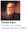 Timothy Eaton - Founder of Famous Department Store (1869)