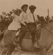 Olsen Children on Tiger (circa 1920)