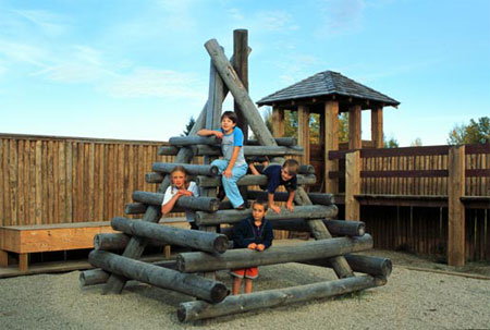 Children at Playfort. Major Playfort sponsors are:�A;Friends of Rocky Mountain House National Historic Site; Alberta Sports, Recreation Parks and Wildlife Foundation; Alberta Games and Lottery Fund; Numac Energy Inc.; TransCanada; and Inukshuk Consulting Group / SAIT.