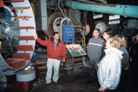 Tour Group inside the Cannery