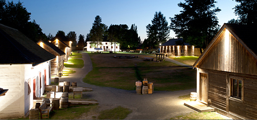 Fort Langley in the evening.