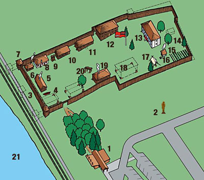 Present-day map of Fort Langley NHS
