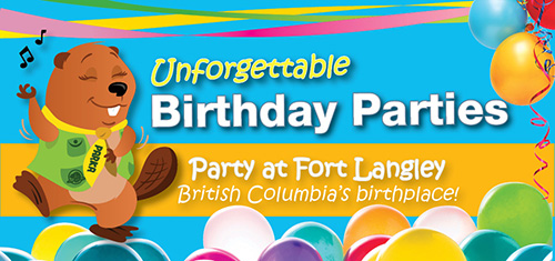 Host an unforgettable Birthday party at Fort Langley