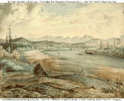 Painting of the Fraser River (1858)