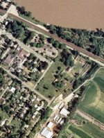 Aerial view of Fort Langley