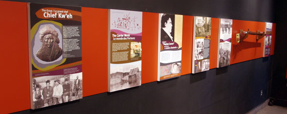 New displays at Fort St. James National Historic Site featuring Chief Kw'eh's story opened in September 2012
