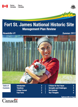 Fort St. James National Historic Site Management Plan Review, Summer 2011