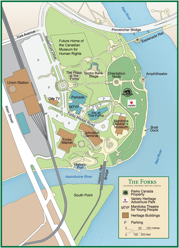 The Forks site map