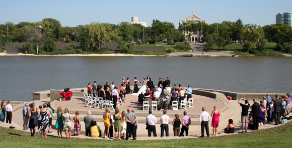 Wedding Ceremony at The Forks
