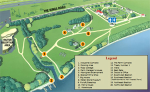 Site Map of Lower Fort Garry National Historic Site