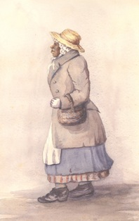 watercolour portrait of Rose Fortune