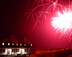 Fireworks at Fort-Anne National Historic Site