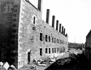 Historic photo of Halifax Citadel in disrepair, 1950