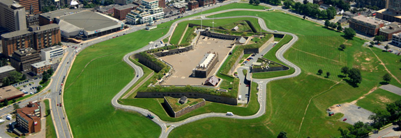 Aerial view of the Halifax Citadel