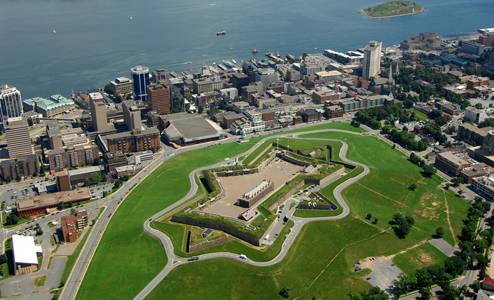 Aerial view of Halifax Citadel and downtown Halifax