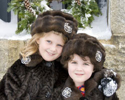 two girls in Victorian dress