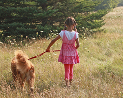 Trail - girl and dog