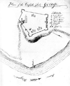 American spy map of Fort George