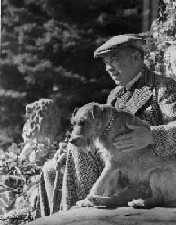 King and his dog Pat at Kingsmere