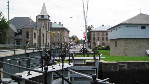 Merrickville's historic downtown along the Canal.