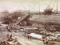 Construction of the lock 1889-1895