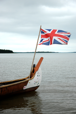 A Union Jack flutters in the breeze