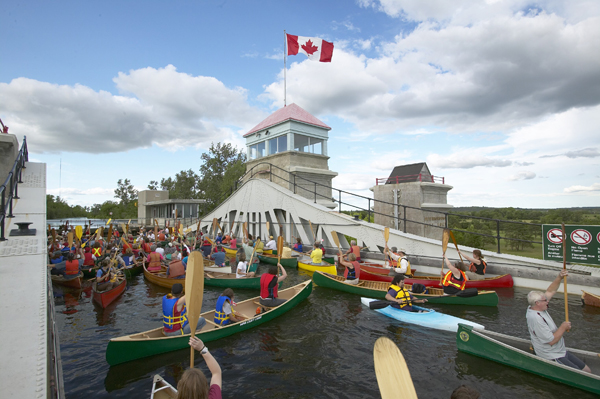 National Canoe Day at the Peterborough Lift Lock