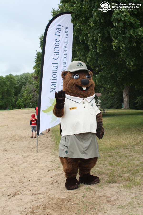 Parka celebrates National Canoe Day at Beavermead Park in Peterborough. Parka loves canoeing!
