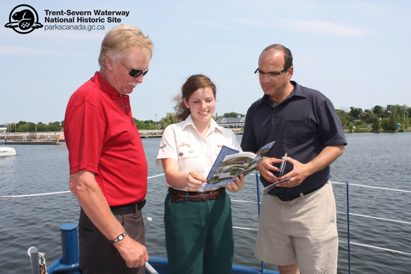 Parks Canada Interpreter Jessica offers up some information on the Tug Trent.