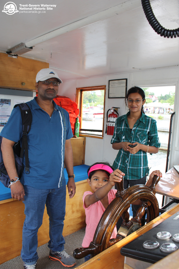 Visitors got a good look at the tug's engine. Parks Canada staff members were on hand to give tours of the Tug Trent and answer questions about the historic tug boat and the Trent-Severn Waterway.