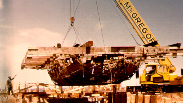 Excavating the gunboat wreckage (1966)