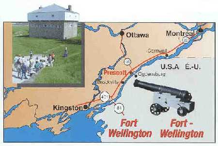 Map to Fort Wellington