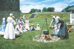 Educational programming at Fort Wellington
