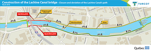 Detour: construction of the Lachine Canal bridge