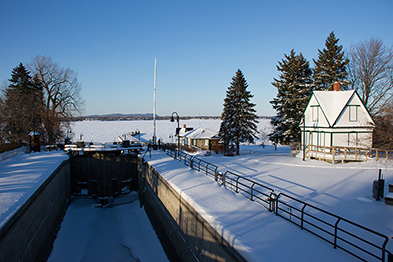 Lock No. 1 in winter