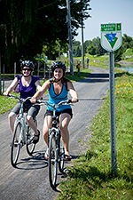 Cyclists at the Chambly Canal