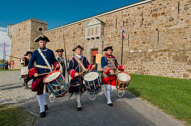 Historical reenactment at Fort Chambly National Historic Site