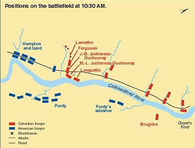 Positions on the battlefield at 10:30 a.m.
