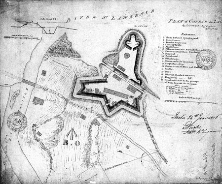 Map of Coteau-du-Lac in 1815