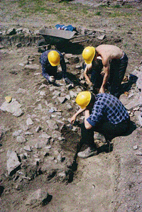 Archeological excavations, Coteau-du-Lac site, summer 1966