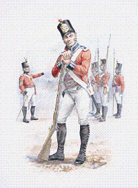 Soldier of the 10th Royal Veterans Battalion, circa 1812