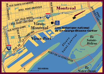 Old Montréal Map