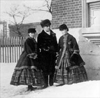 G.E. Cartier and his daughters