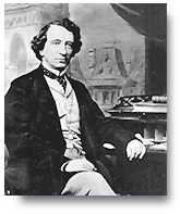 Black and white picture of John A. Macdonald sitting at a desk
