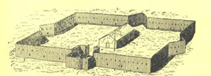 The Carignan-Salières regiment and the first wooden fort