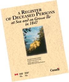 Register of deceased persons at sea and on Grosse Île in 1847