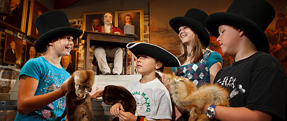 A group of 4 young people discovers the fur trade adventure!