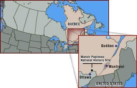 General map of Canada